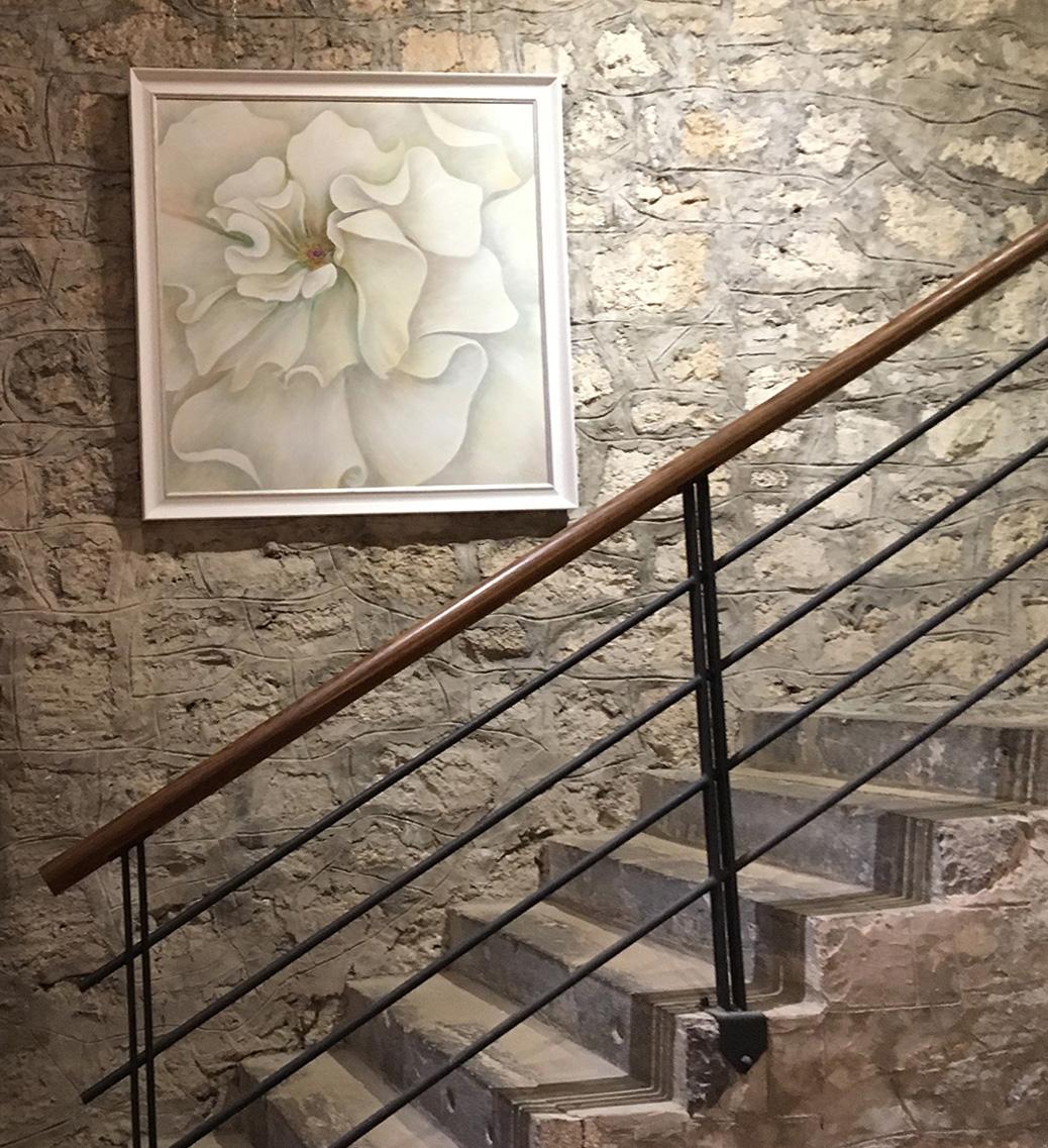 Great White Rose 1, castle Snežnik Exhibition