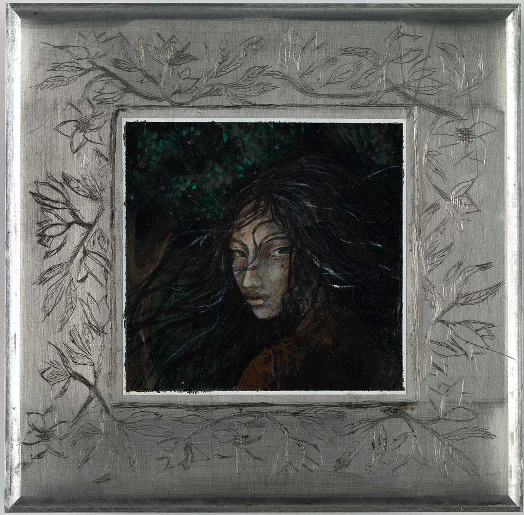 format 22 cm x 22 cm, acrylic on iron (2013)