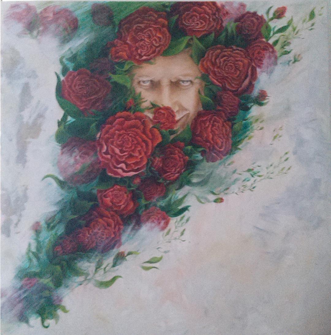Man in roses